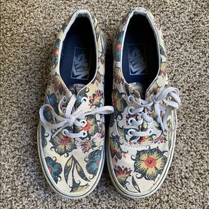 Flower Lace-up Vans